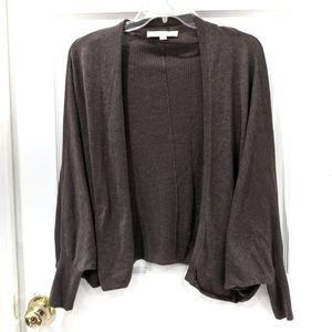 LOFT Brown Oversized Open Cardigan sz XS